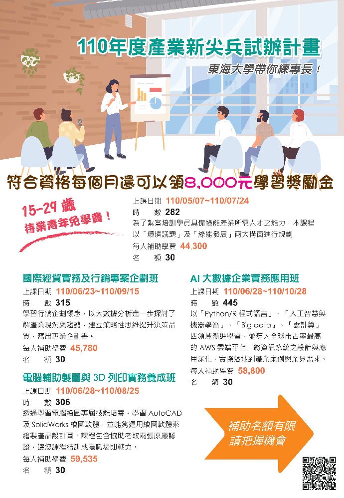 『產業新尖兵計畫』應屆畢業生看過來!!!